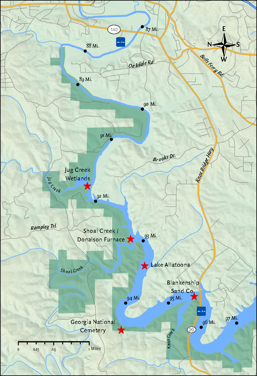 eagle falls trail map with Lake Allatoona Backwaters on Abiqua Falls Oregon Usa also Ontario Provincial Parks In Sunset further Sandstone Mountain in addition Texaspecos further Rosthern.